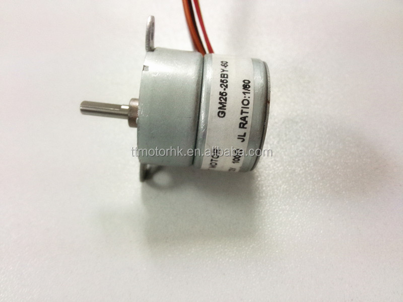 100 ohm low current stepping motor with stepper gearbox for Low cost stepper motor