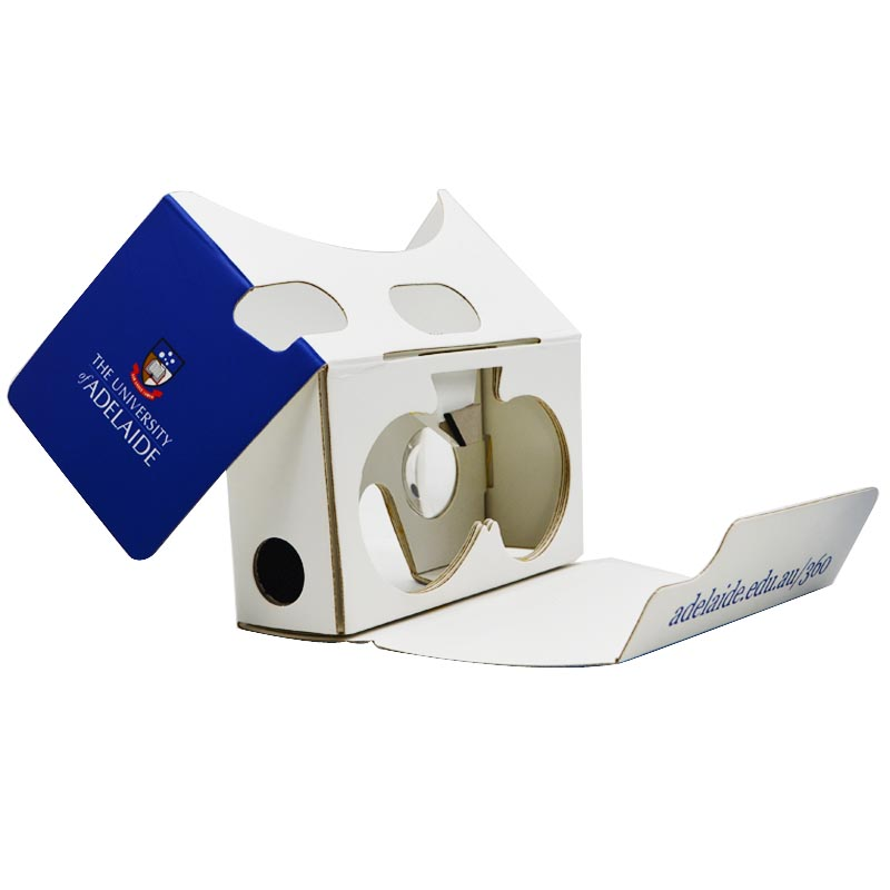 Custom logo printing google cardboard 2019 world DIY branded vr headset cup with headstrap