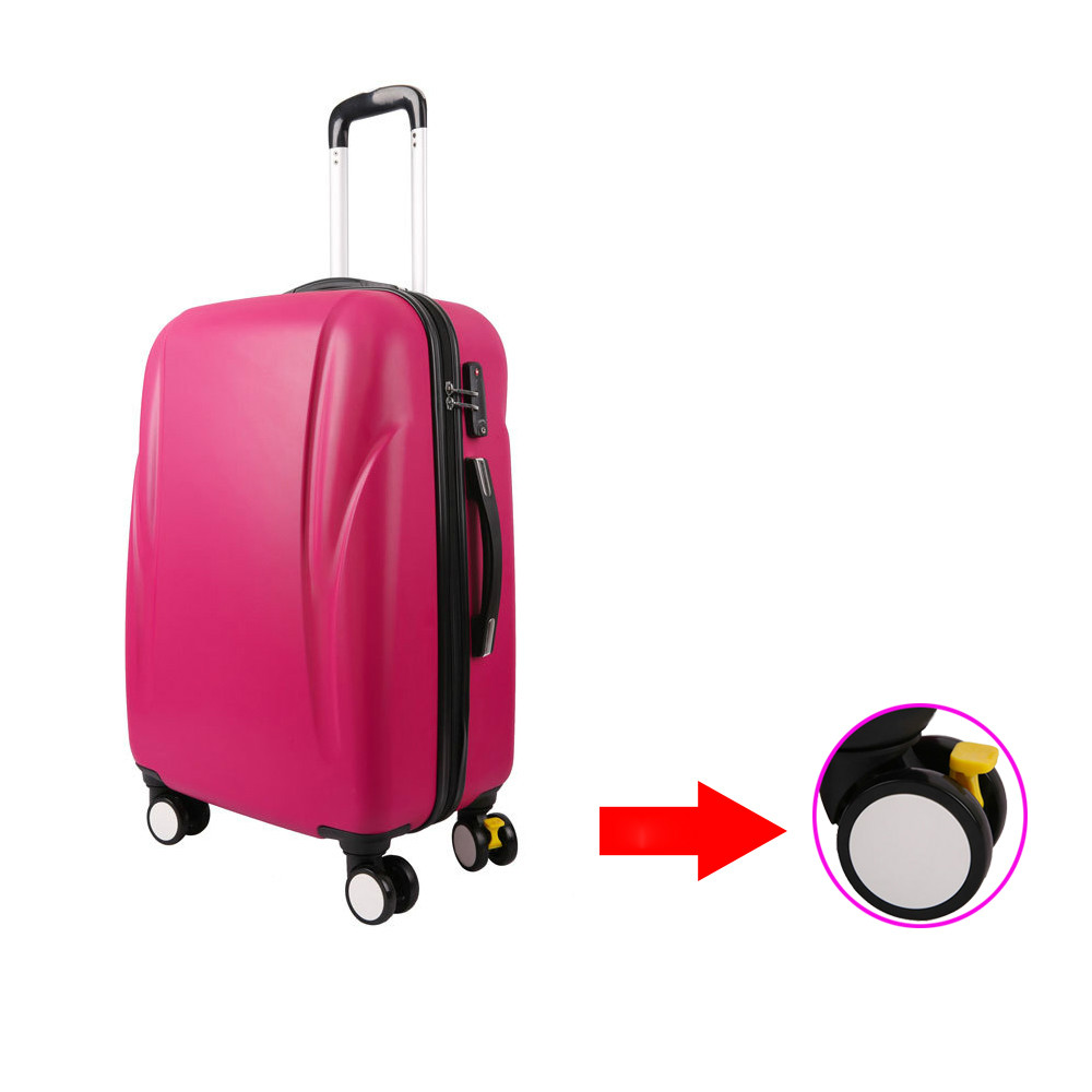 Ultralight ABS hard shell 360 free spinner trolley luggage, 20 24 28 Pilot cabin suit case suitcase set with skid brake wheel