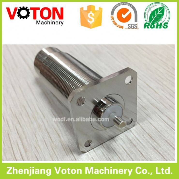 Brass connector pin N female four hole flange connector Long screw