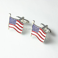 2016 custom America flag metal cufflinks
