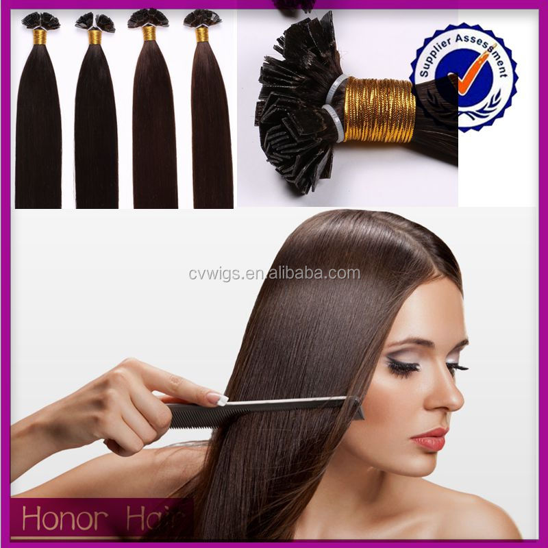 Direct buy China virgn flat tip hair extensions cheap and high quality 100 human hair
