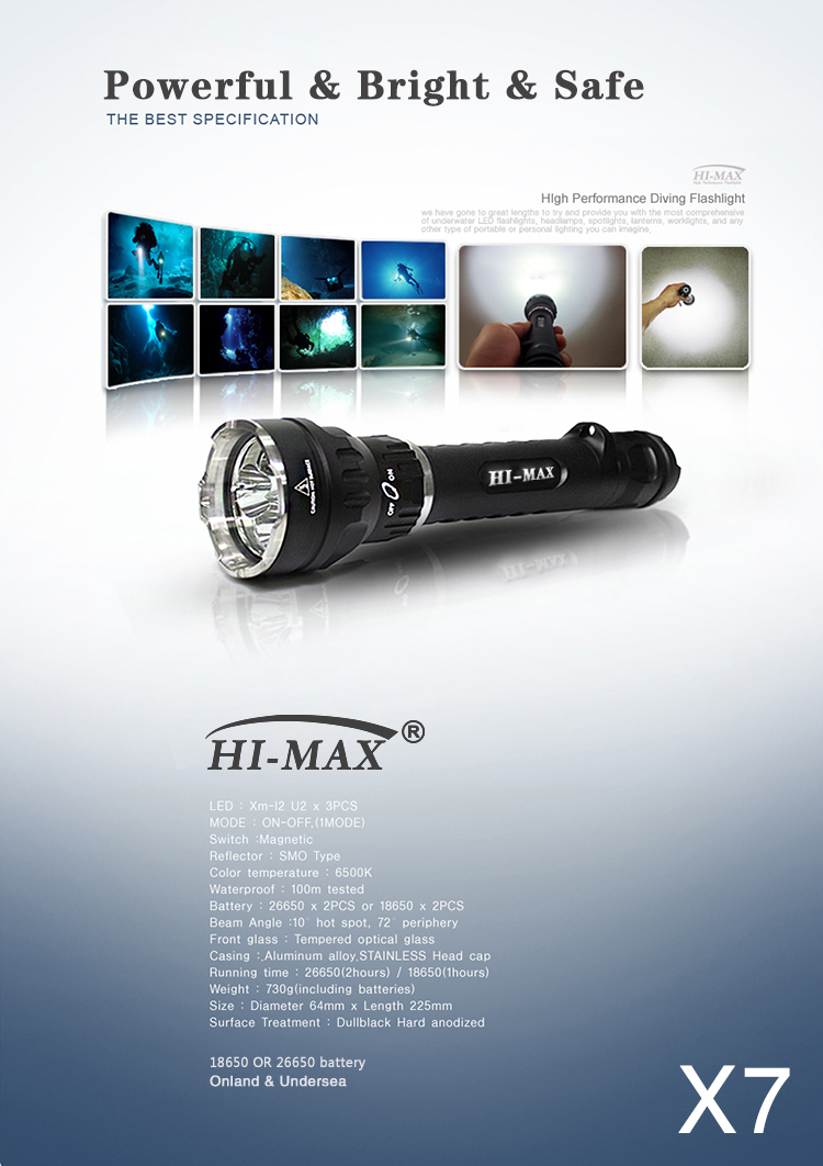 HI-MAX X7 military scuba commercial diving equipment