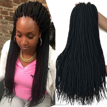 22 inch Senegalese Twist Crochet Hair Extensions 30 Roots Mambo Twist Crochet Braids Ombre Synthetic Braiding Hair Extensions