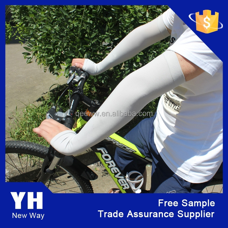 2015 spandex nylon compression cooling UV sun protection arm sleeves cover