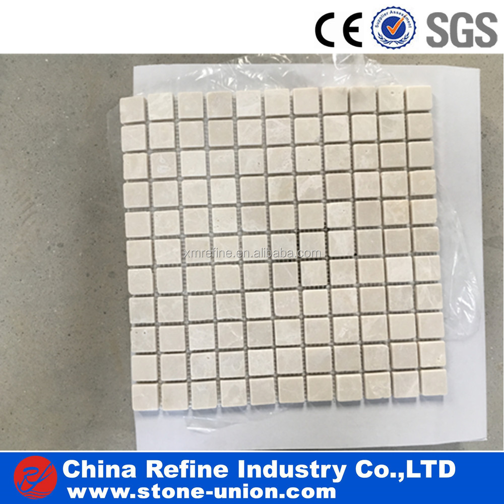 Popular Design Small Size Polished Surface Finished Square Marble Mosaic Tile