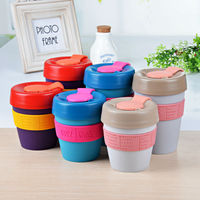 Color various PMS design customized logo brand high quality plastic coffee mug rubber lid