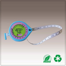 Heart Shape 150cm Plastic colorful BMI health measuring Tape Measures