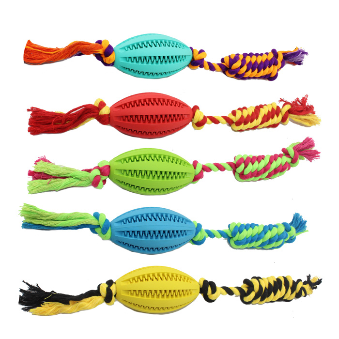 Colorful Pet Products Pet Chew Ball Interactive Cotton Rope Dog Toy