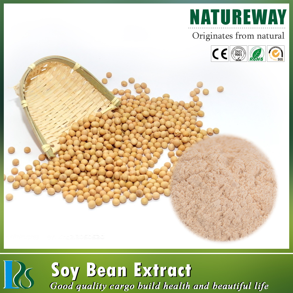 100% Natural Fermented Soybean Extract Powder 10%-80% Isoflavones
