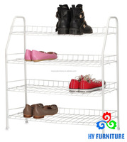 All steel pipe wire mesh shoe rack with white cover wholesale
