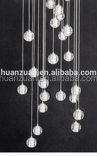 fashion crystal ball led pendant lamp(chandelier) with ceiling plate