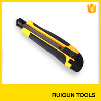 High quality snap off aluminum alloy utility knife with 18mm cutter blade