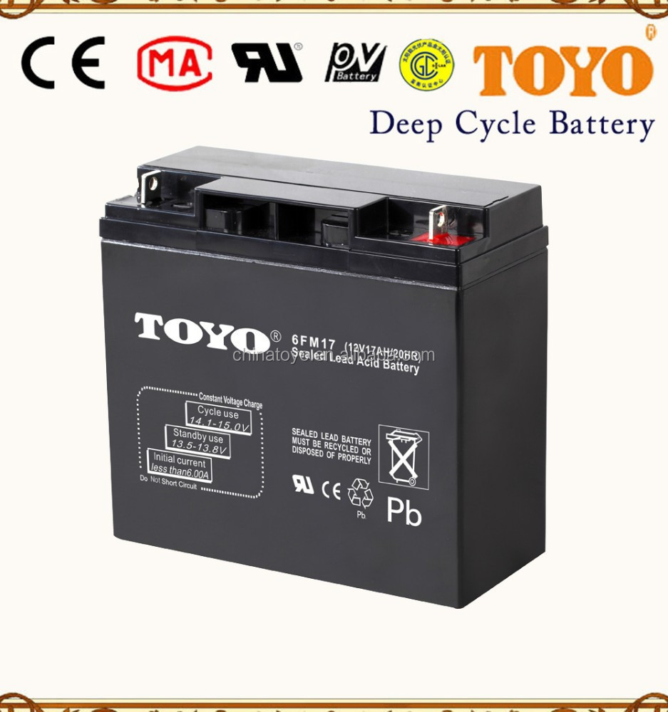 SMF storage battery 12v 17ah rechargeable lead acid battery