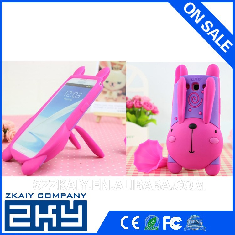 Funny animal shape custom 3d silicone case for samsung galaxy s3 silicone cases