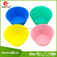 DIY round silicon cake mould / Muffin cups / cake cup with 4pcs pack