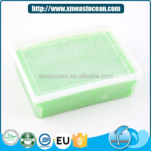 Top quality healthy sushi material frozen seasoned green capelin roe