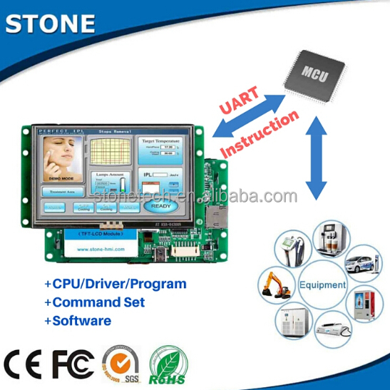 "built-in 4.3"" hmi+lcd screen for industrial equipment"