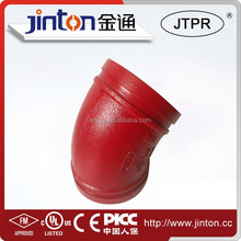 UL approved pipe connection 45 Degree elbow and bent pipe fitting
