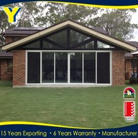Balcony sliding aluminum doors/Double Glazed Aluminium Windows And Doors Comply with Australian & NZ Standards
