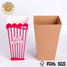kraft popcorn paper box wholesale,Disposable kraft paper packaging box for popcorn