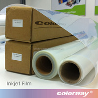 Crystal Clear Film 160gsm Roll Inkjet PET Film, Transparent Positive Screen Printing Film for Water-based Ink
