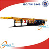 Skeletal Truck Trailer Container 40T Chassis Semi Trailer