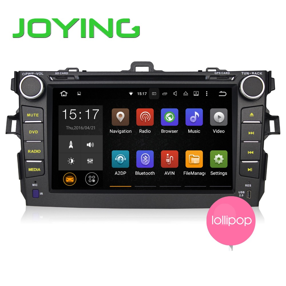 8 inch Android 5.1 double din Car DVD Player / car radio stereo car multimedia for TOYOTA Corolla 2007-2011 with gps navigation