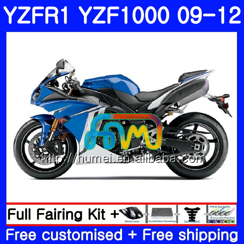 Body For YAMAHA blue black YZF-<strong>R1</strong> YZF-1000 YZF <strong>R1</strong> <strong>09</strong> 10 11 12 104HM33 YZF1000 R 1 YZF 1000 YZFR1 2009 2010 2011 2012 Fairing