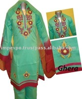 Girls Fashion Readymade Pure Cotton Suits with High quality Embroidery ( 3 Pcs suits )