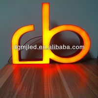 Super Light C Beautiful Resin Letter For Shop Advertisement