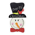 Wooden Snowman Advent Calendar for Christmas Decorations