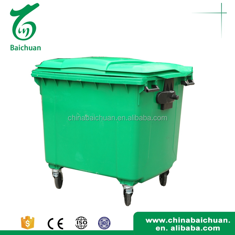 Innovative 1100L hotel plastic trash can
