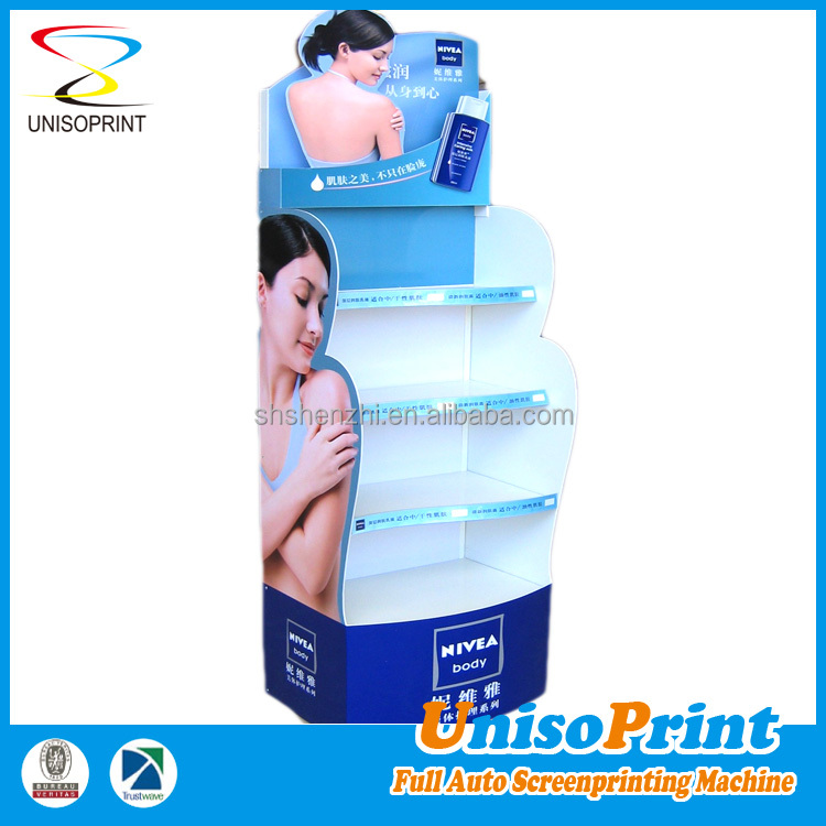 Supermarket promotion iron detachable floor metal display stand