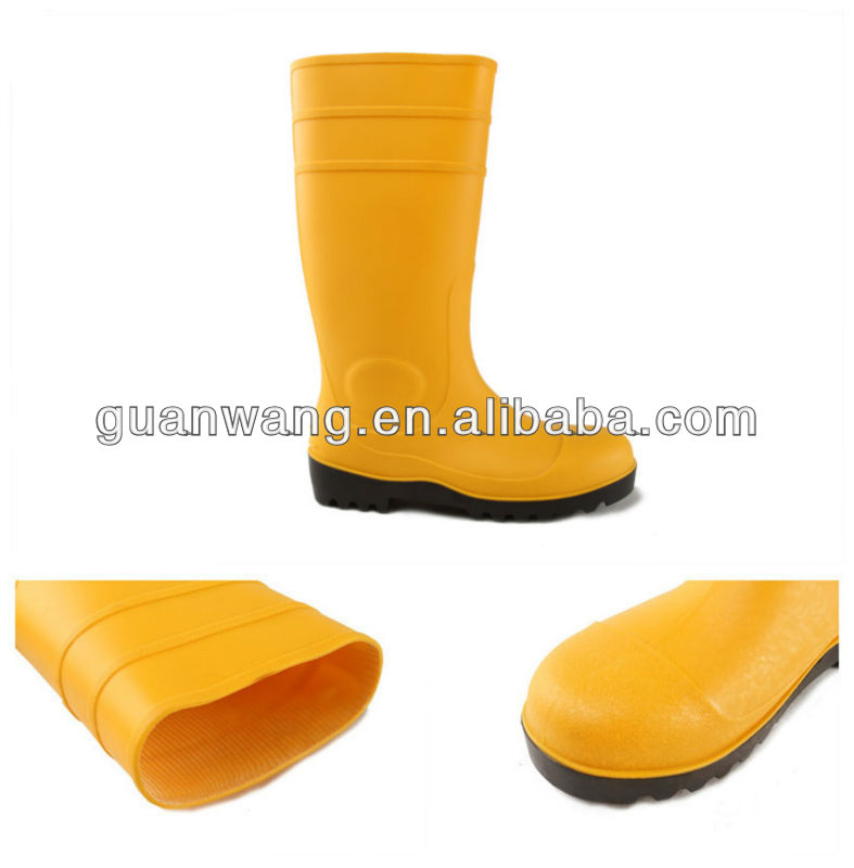 S5 Standard Steel Toe PVC Protective Boots For Industrial Workers,Over Knee Height PVC Rain Boots