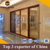 Modern aluminium bathroom commercial aluminum door for bathroom