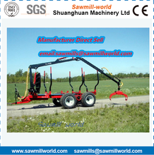 10T Log Loader Trailer with Crane