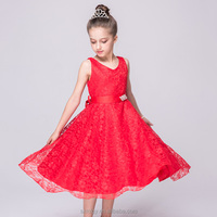 Girls lace dresses in red