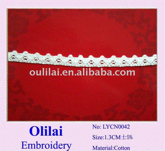 Cotton eyelet lace