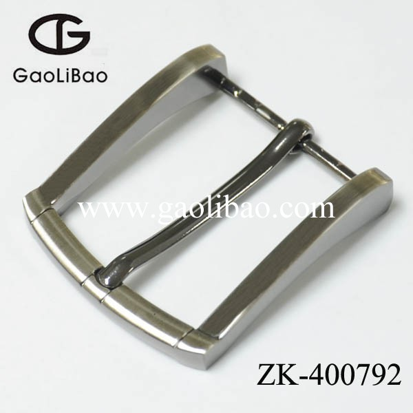 40mm personalized single pin buckle zinc alloy buckles for men ZK400792