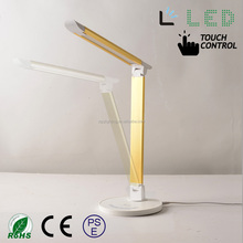 CE Dimmable anti-glare fashionable touch portable Led office table lamp modern
