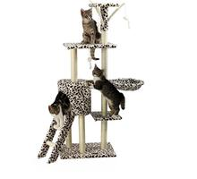 Variety Styles Wooden Cardboard Cat House Tree Indoor , Wholesale Cat Tree Scratcher Tower Wood Made in China