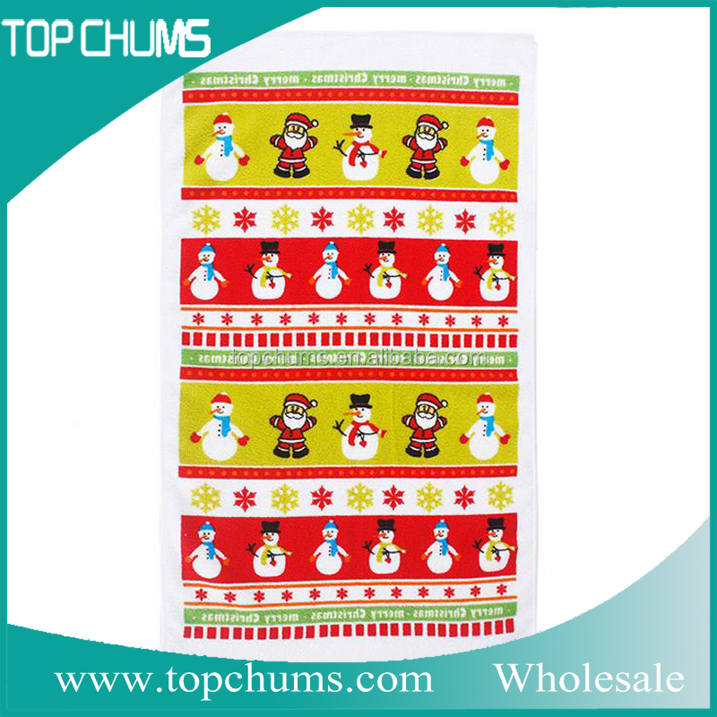 Christmas printed microfiber holiday kitchen towels