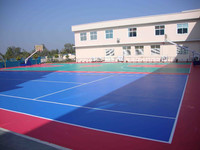 Synthetic rubber surface for sports
