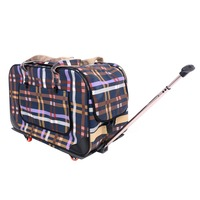 Wholesale Popular Selling Good Quality Fashion Travel Dog and Cat Trolley Four-wheels Pet Carry Bag