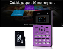 2017 New Ultra-thin bluetooth mobible phone Credit Card Size Q1 bulk china mobile phone