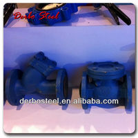 Check valve with a set of counter-flanges, gaskets and fasteners DN150