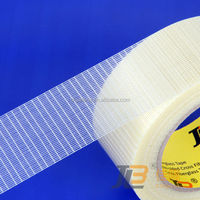 cheap Fiberglass sticky adhesive 1 side tape custom packaging
