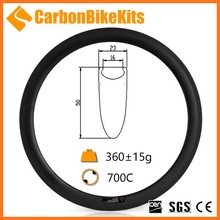 CarbonBikeKits customized light weight road bike carbon rims 60mm fiber clincher