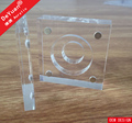 Square Coin Holder Capsule Acrylic